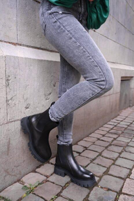 Jeans gris slim