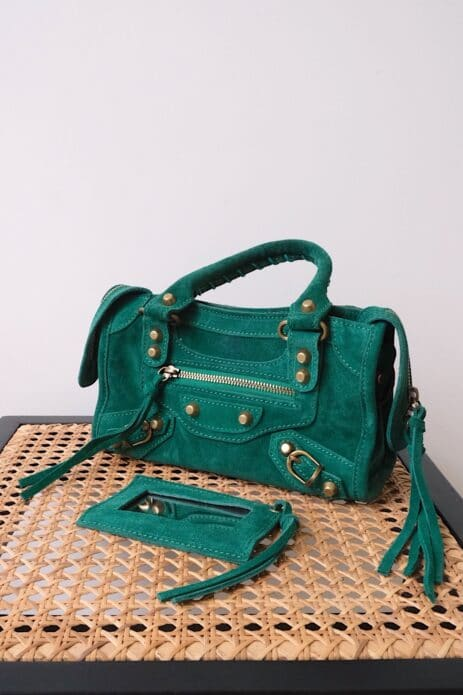 Mini sac gaga vert avec miroir